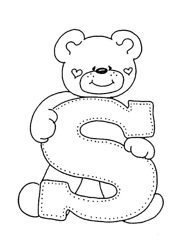 Letra S Para Colorear Dibujos Para Colorear