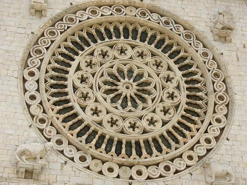 Basilica, Assisi, rosone, geometrie, Bellezza