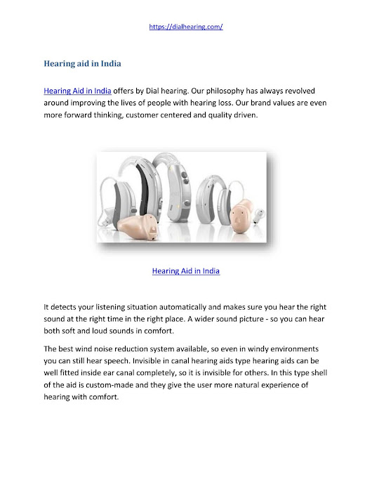 Hearing aid in india