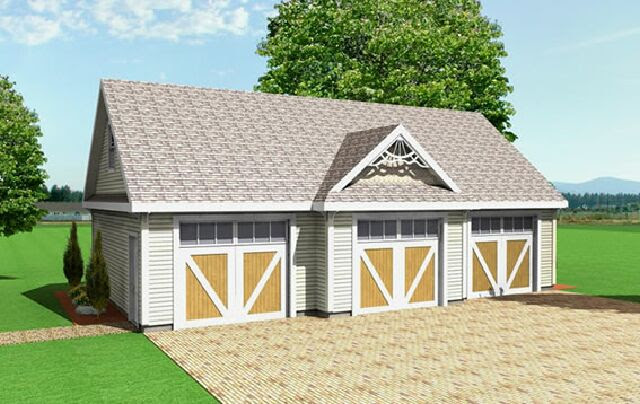3 Car Garage Plans From Design Connection Llc House Plans Garage Plans