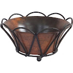 "10"" Tulip Stand w/ Weathered Copper Finish Pot"