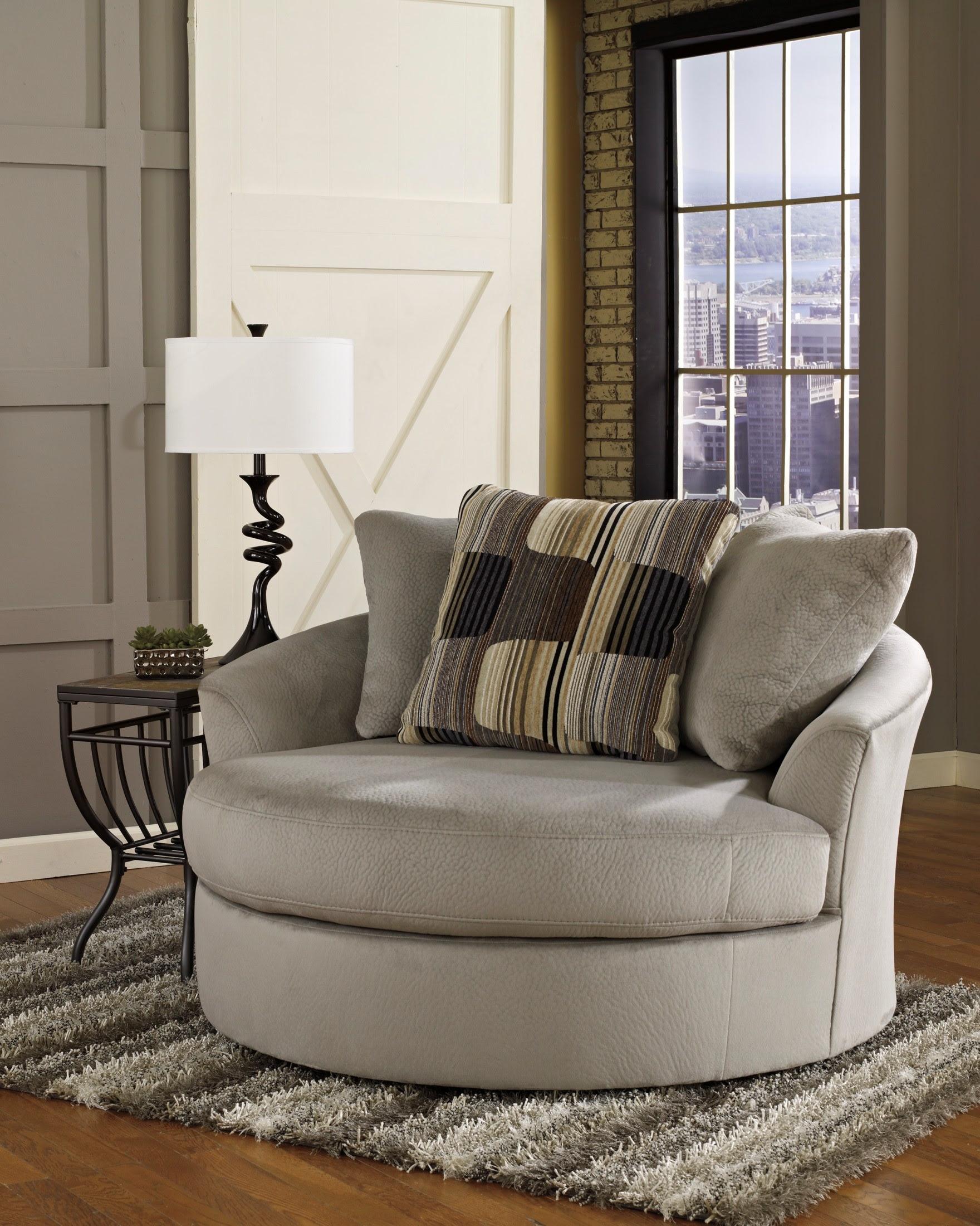 Westen Granite Oversized Swivel Accent Chair, 1950121 ...