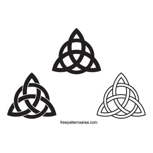Celtic Triquetra Symbol Jewelry Project | FreePatternsArea