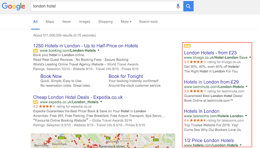 Google is removing all Right Hand Side Ads on SERPs worldwide