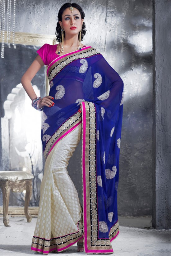 Indian-Brides-Bridal-Wedding-Party-Wear-Embroidered-Saree-Design-New-Fashion-Reception-Sari-1