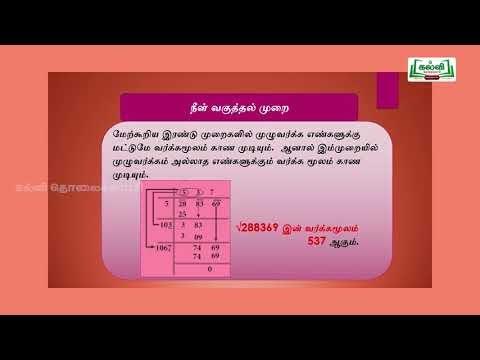 ஜியாமெட்ரி பாக்ஸ் Std 8  Mathsவர்க்கமூலம் நீள்வகுத்தல்முறை Kalvi TV