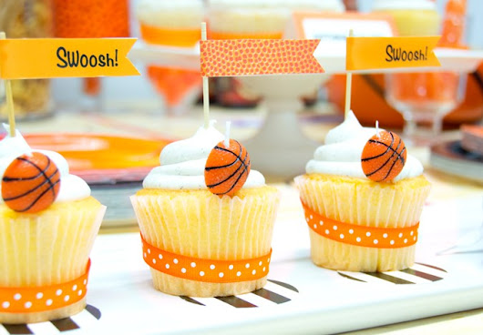 Slam Dunk! March Madness Basketball Birthday Party Ideas + Printables!