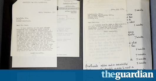 Collection of letters by codebreaker Alan Turing found in filing cabinet | Science | The Guardian