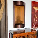 Bluworld waterfall fountain Contempo Solare Dark Copper with Bronze Mirror - (V)