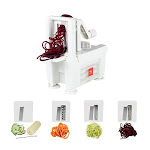 Paderno World Cuisine 4-blade Folding Vegetable Slicer / Spiralizer Pro Counter-mounted And Includes 4 Different Stainless Steel Blades