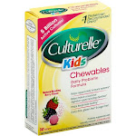 Culturelle Kids Daily Probiotic Formula, Chewable Tablets, Natural Bursting Berry Flavor - 30 tablets