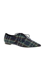 ASOS MELLOW Flat Point Lace Up Shoe