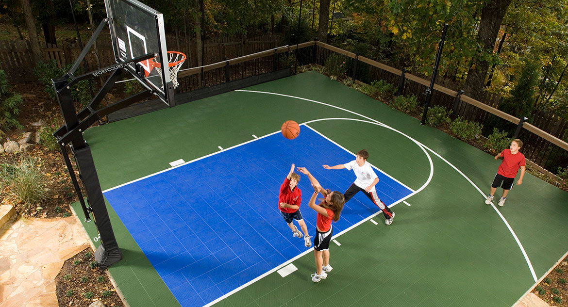 Basketball Court Construction Gym Flooring Home Putting Greens