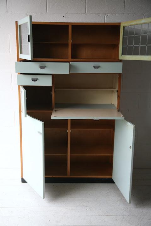 1950s Kitchen Cabinet   Cream and Chrome