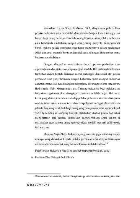 Makalah Fikih Jinayah tentang Jarimah Hudud, Zina dan Qazaf