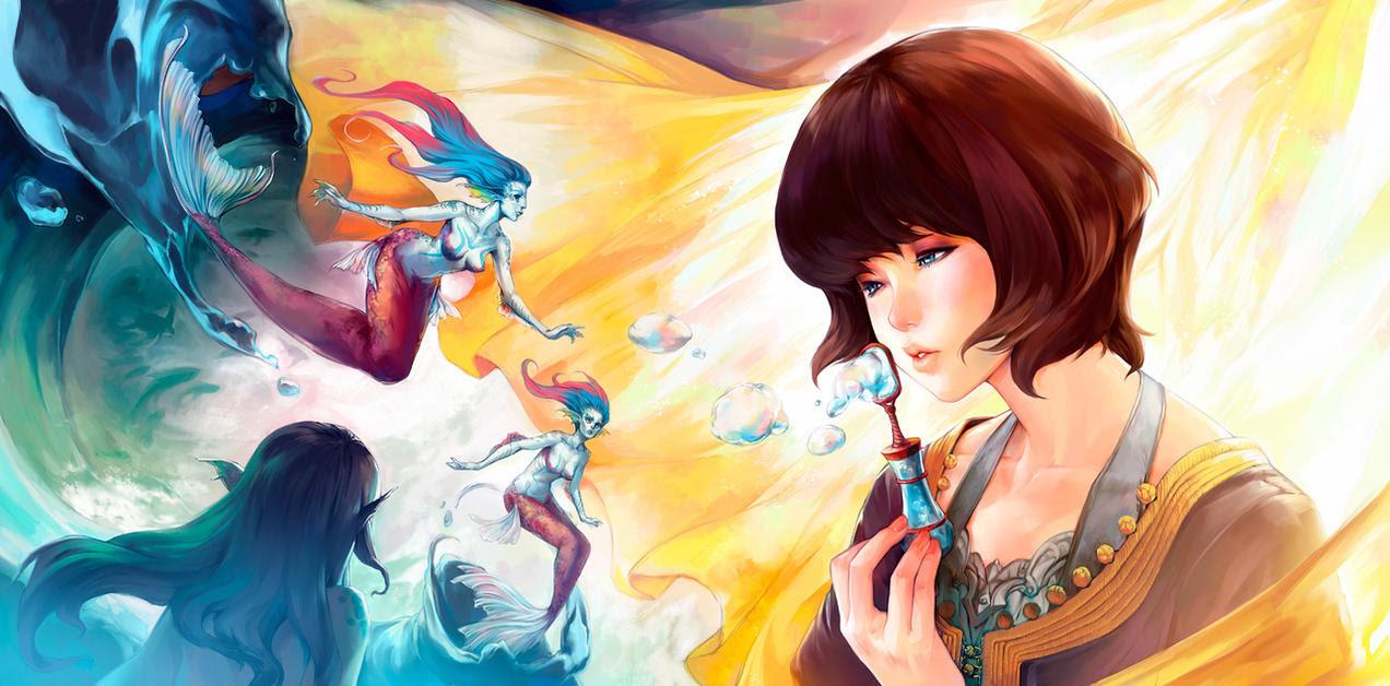 Fantasy Digital Paintings Blow of Diva by asuka111
