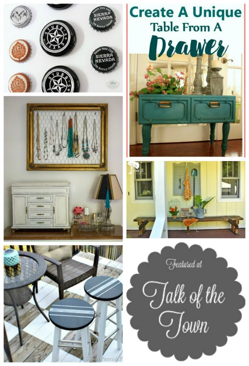 Talk of the Town featured link party DIY projects | www.knickoftime.net