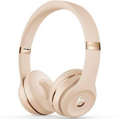 Beats Solo3 Bluetooth Wireless On-Ear Headphones with Mic - Satin Gold
