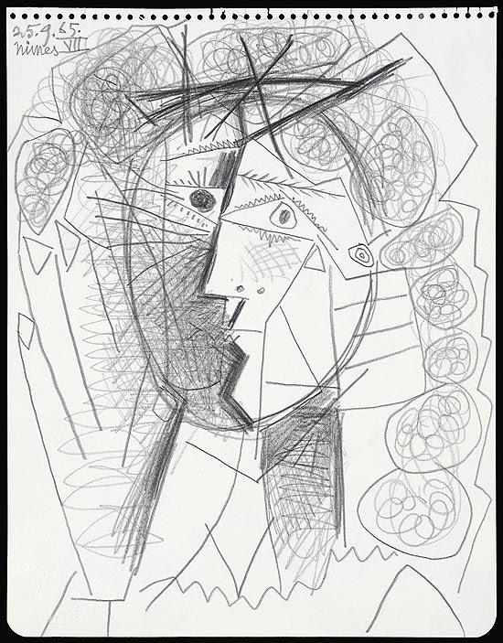 """Desenho """"Tete de Femme"""", feito por Picasso em 1965, foi roubado em galeria de arte de São Francisco"""
