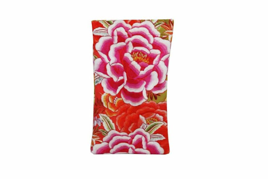 Velvet Glasses Case - Tropicana - Anna Chandler Design