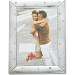Lawrence Frames Brushed Silver 4x6 Metal Picture Frame Decorated with Crystals