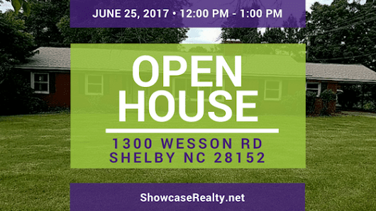 OPEN HOUSE: 1300 Wesson Rd Shelby NC 28152 | Home for Sale | Charlotte Homes For Sale | North Carolina Real Estate | Showcase Realty LLC | (704) 997-3794