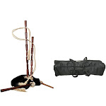 Bagpipes Package Includes: Medieval Bagpipes W/ Black Velvet Cover + Full Size Bagpipes Set Nylon Carrying Bag Case