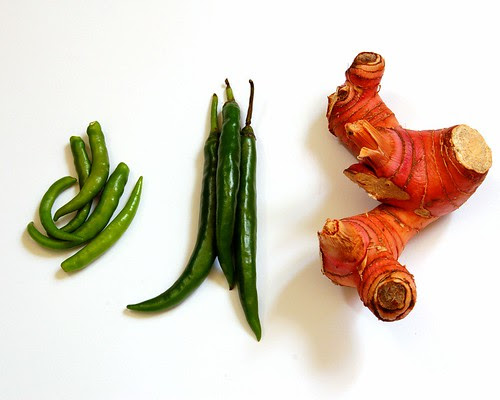 chillies and galangal