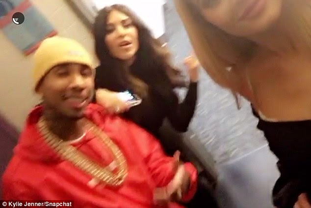 Boyfriend: Her beau Tyga was featured in another one of her social media posts