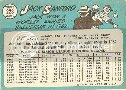 #228 Jack Sanford (back)