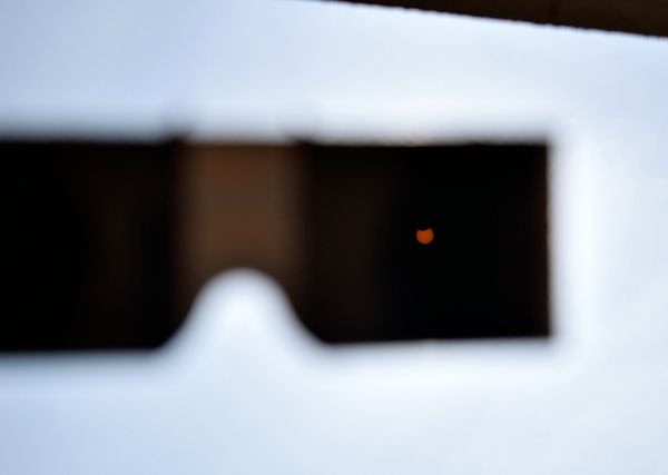 Another photo I took of the eclipse-viewing glasses that I used to gaze at the Great American Eclipse...on August 21, 2017.