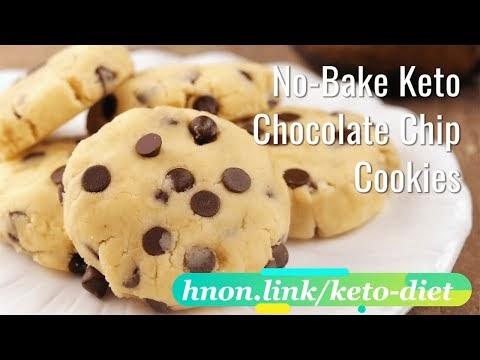 😋 Keto No bake Chocolate Chip Cookies 🍫 |  Keto Diet Recipe 🥮