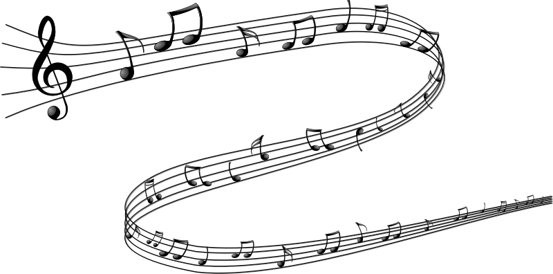 Music note by cyberscooty - Beautiful drawing of musical notes on a serpentine.