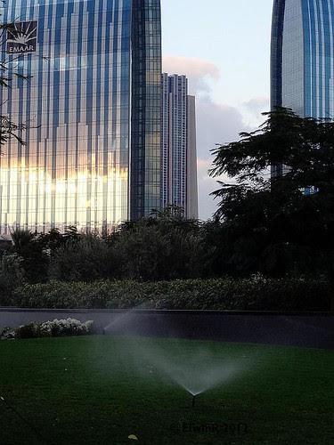 Dubai 2012-01 Burj Khalifa park, irrigation