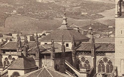 Cimborrio de la Catedral de Toledo hacia 1860. Fotografía de Francis Frith (detalle)