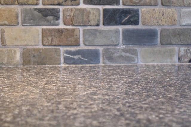 Small Kitchen Remodel Featuring Slate Tile Backsplash Remodelaholic