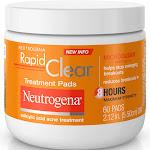 Neutrogena Rapid Clear Maximum Strength Treatment Pads, 60 Count