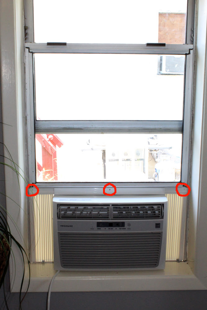 Installing Window Unit In Aluminum Frame Window How To Secure