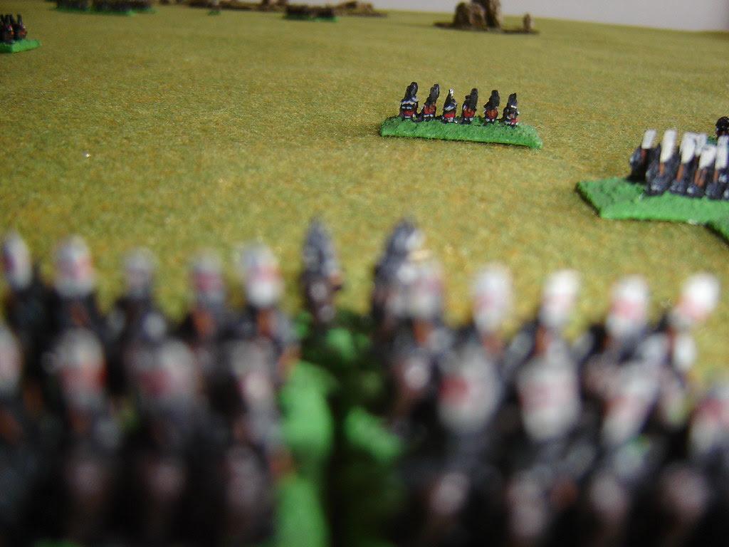 Chosokabe on far right flank