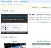 The WordPress themes editor; click for enlarged image.