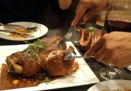 Pork Shank Being Carved