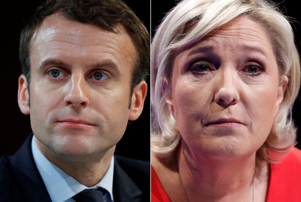 Foto: Emmanuel Macron y la líder del Frente Nacional, Marine Le Pen. (Reuters)