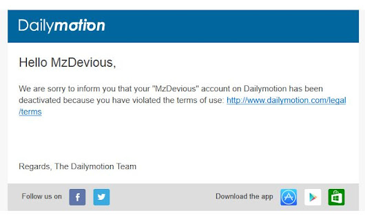 Dailymotion dumped Me - Here's what happened :: Mz Devious