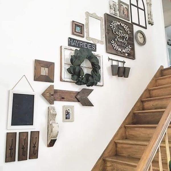 Staircase Wall Art Decor Ideas Homemydesign