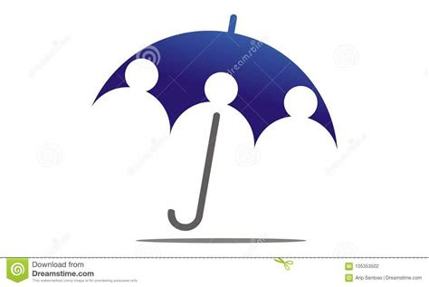 umbrella insurance logo design template stock vector