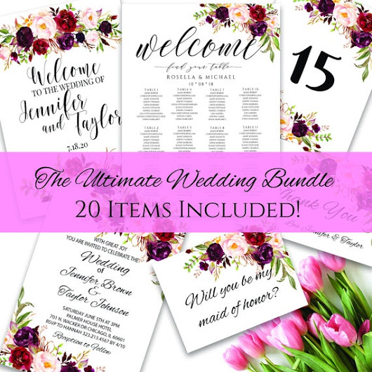 wedding bundle Wedding sign package wedding sign bundle