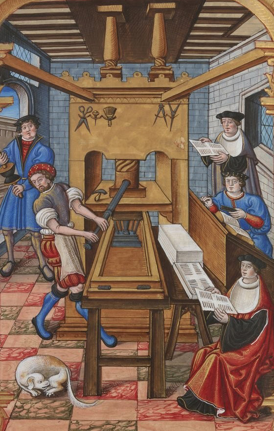 Book printing in the 15th Century - Wikimedia Commons