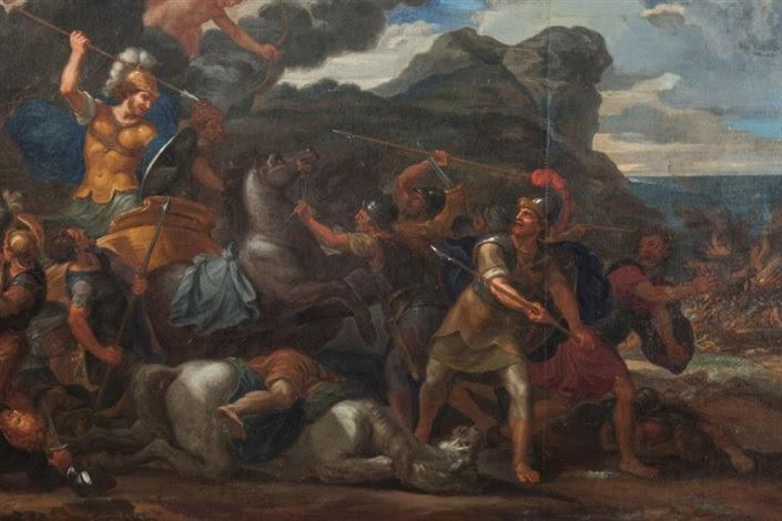 Le combat dHector contre Ajax par René Antoine Houasse sur artnet