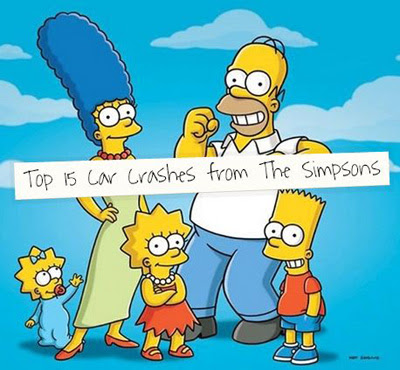 Top 15 Car Crashes from the Simpsons | The Reeves Law Group