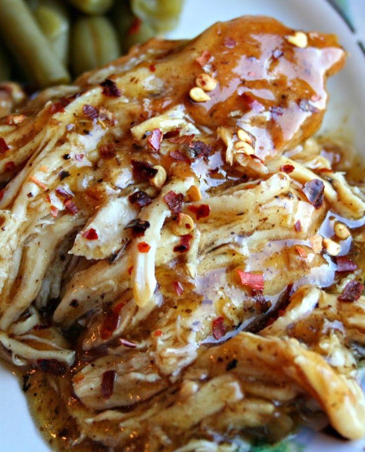 Slow Cooker Brown Sugar & Garlic Chicken Recipe ~ quick, easy & delicious!